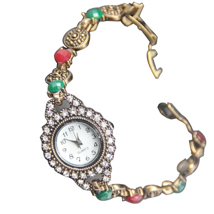 2df1404d92c5 Hermosa dama de moda de las mujeres chica reloj de pulsera de piedra de  jade decoración