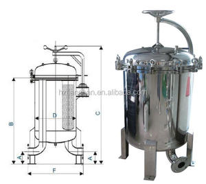 Industrial water filter bag housing stainless steel housing liquid filtration equipment