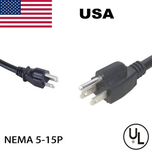 Factory supply US American power cord with ul standard