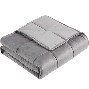 ome Plush Weighted Blanket for Adult 12 lbs Twin Size Grey Heavy Blanket with Premium Glass Beads (Anti-Dirty,Anti-mite,Incredib