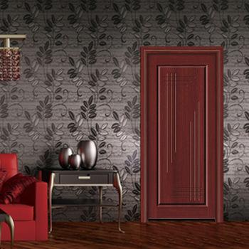 Indian Simple Style Rosewood Door Hand Carving Flush Front Main Door