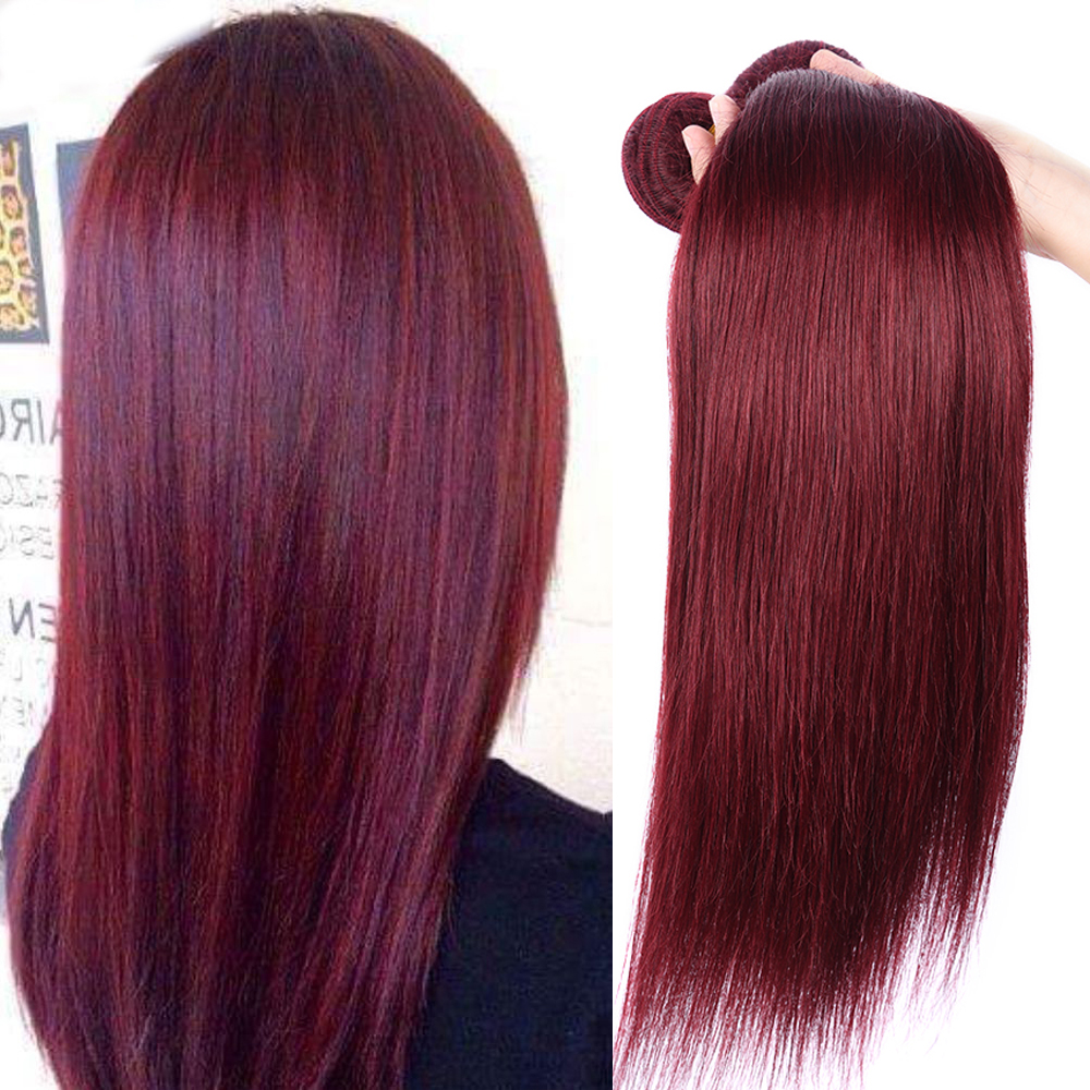 Free shipping color 99j hair weave red braiding hair piece, human hair weave bundles фото