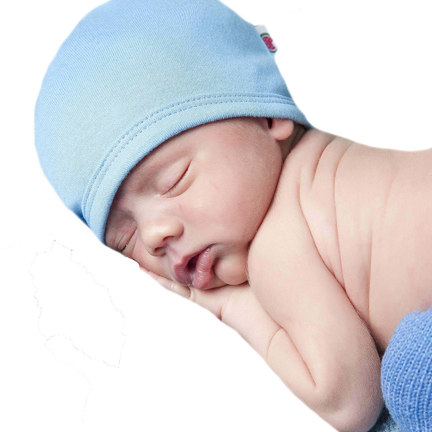 1339dddfb1d Get Quotations · Melondipity Baby Hats 100% Certified Organic Baby BOY  Beanie