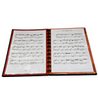 PP Music Display Book A4 Size File Folder With Multiple Color Inserts