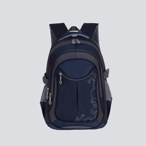 Promotion polyester 1680D blue plain backpack For Student And College