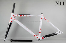 2016 enjoyable outdoor sports bicycle carbon road bike frame DCRF03 N11 white decorate red point