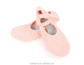 D012007 Dttrol Dance Soft Split - Sole Elastic Canvas Ballet Shoes