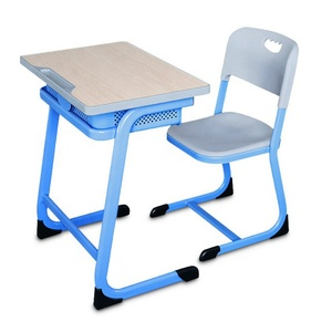 School Furniture High Quality Single School Student Desk and Chair
