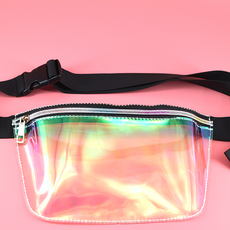 Hologram Laser Waist Pack Custom Fanny Pack Laser Waterproof Waist Bum Bags for Rave