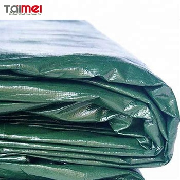 250 gsm Green Waterproof Heavy Duty Polyethylene Fabrics Tarpaulin/PE Tarps/Canvas/Sheet /Roll for Covering
