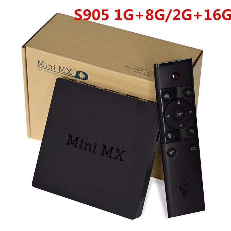 OTT TV Box S905 Quad Core Mini Streaming Media TV Box Mini MX4K Free Movies TV Shows European Cup Kodi Loaded Online