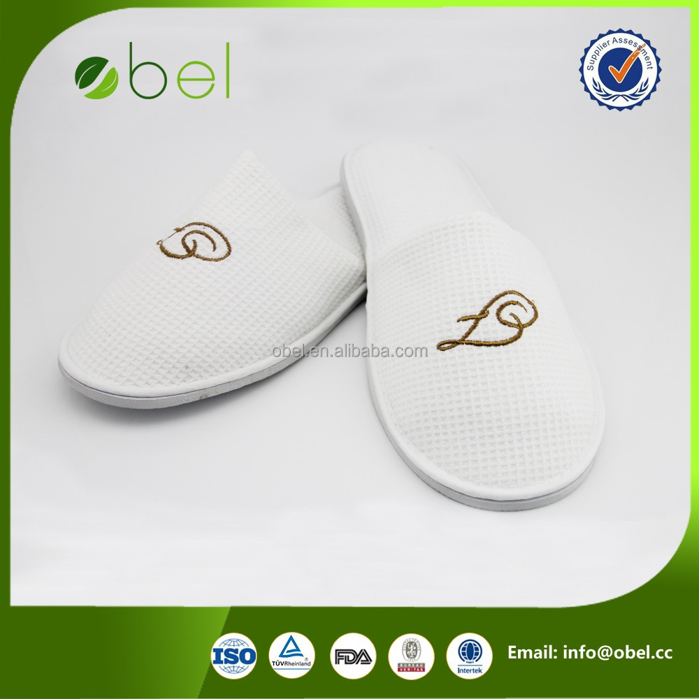 white eco-friendly hotel platform high heel slipper