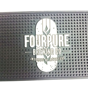 China Factory Supply High Quality Bar Accessories PVC Rubber Beer Mat With Custom Size and Shape