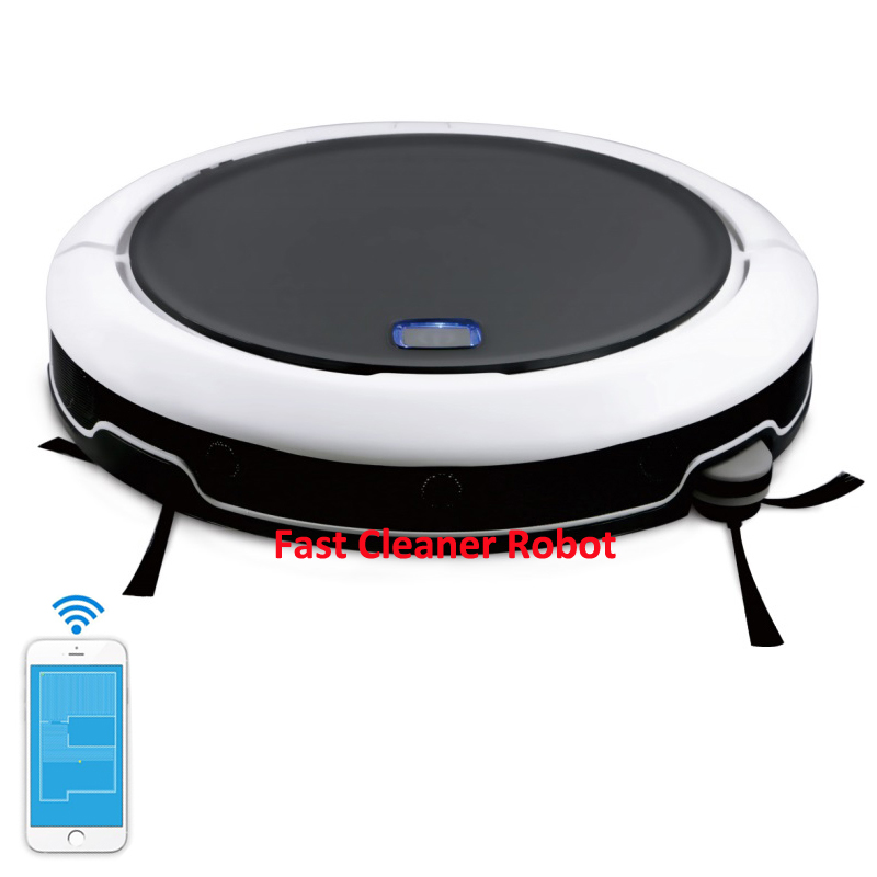2018 Newest High Technology GPS Navigation and Mobile Virtual Map Robot Vacuum Cleaner QQ9