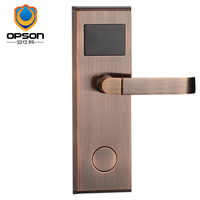 Antique copper key card door lock for hotel chains