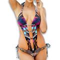 Sexy Joint Trikini Cut Out Swimwear Beachwear Onepiece Bathing Suit Bodysuit Thong Monokini Women One Piece
