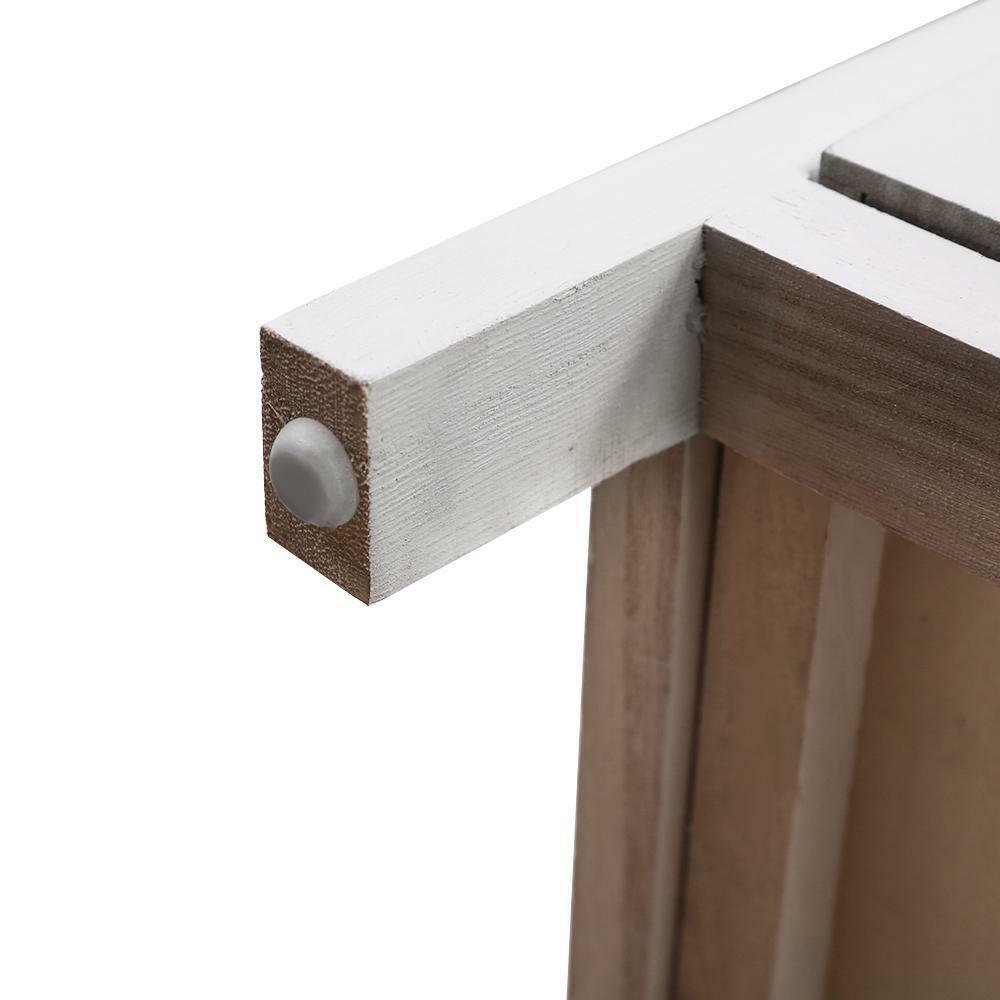 5 Drawers Wicker Basket Bedroom Storage Dresser Chest Cabinet Wood Entry Table