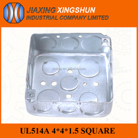 6% discount 4*4 square ul listed floor outlet boxes from China factory