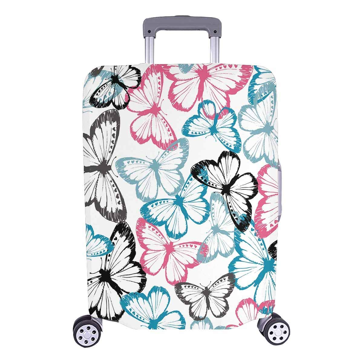 9f39a424ba25 Get Quotations · InterestPrint Suitcase Covers Travel Luggage Protectorss  Butterfly Camouflage Repeat Fit 18-28 Inch Luggage