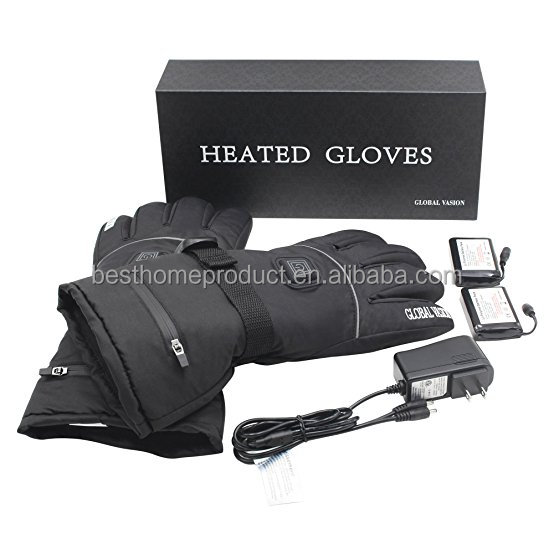 Wholesales battery heated gloves motorcycle with winter touch screen