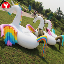2017 hot Summer water horse pool toy / rainbow horse / inflatable horse pool