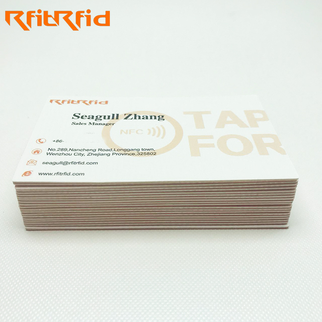 China beautiful paper card wholesale alibaba 1356mhz ntag213 216 paper nfc business card reheart
