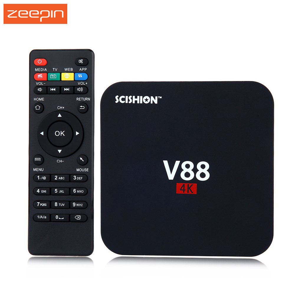 Hot Sale V88 Android 5.1 4K TV <strong>Box</strong> RK3229 Mali-400 1G RAM 8G eMMC H.265 WiFi <strong>Set</strong> <strong>Top</strong> <strong>Box</strong> 3D <strong>Media</strong> Player With Russian Keyboard