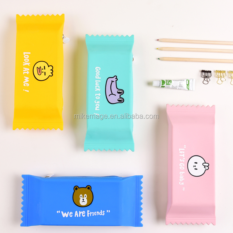 Languo Candy Shape Kids Silicone Pencil Case