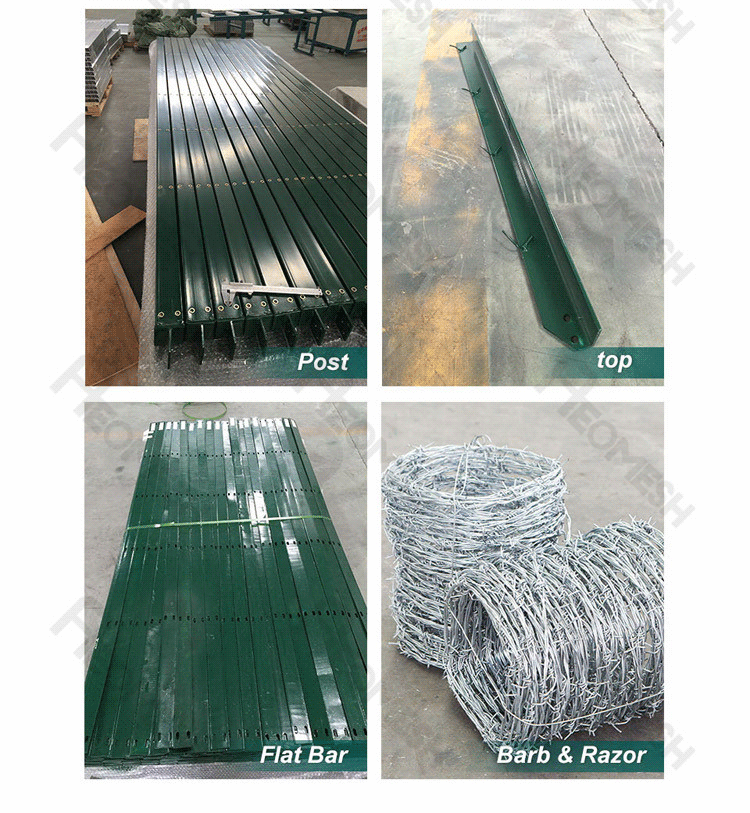 Made in Guangzhou Professional Factory Barbed wire V top Anti-Climb Fence / 358 High security Fence