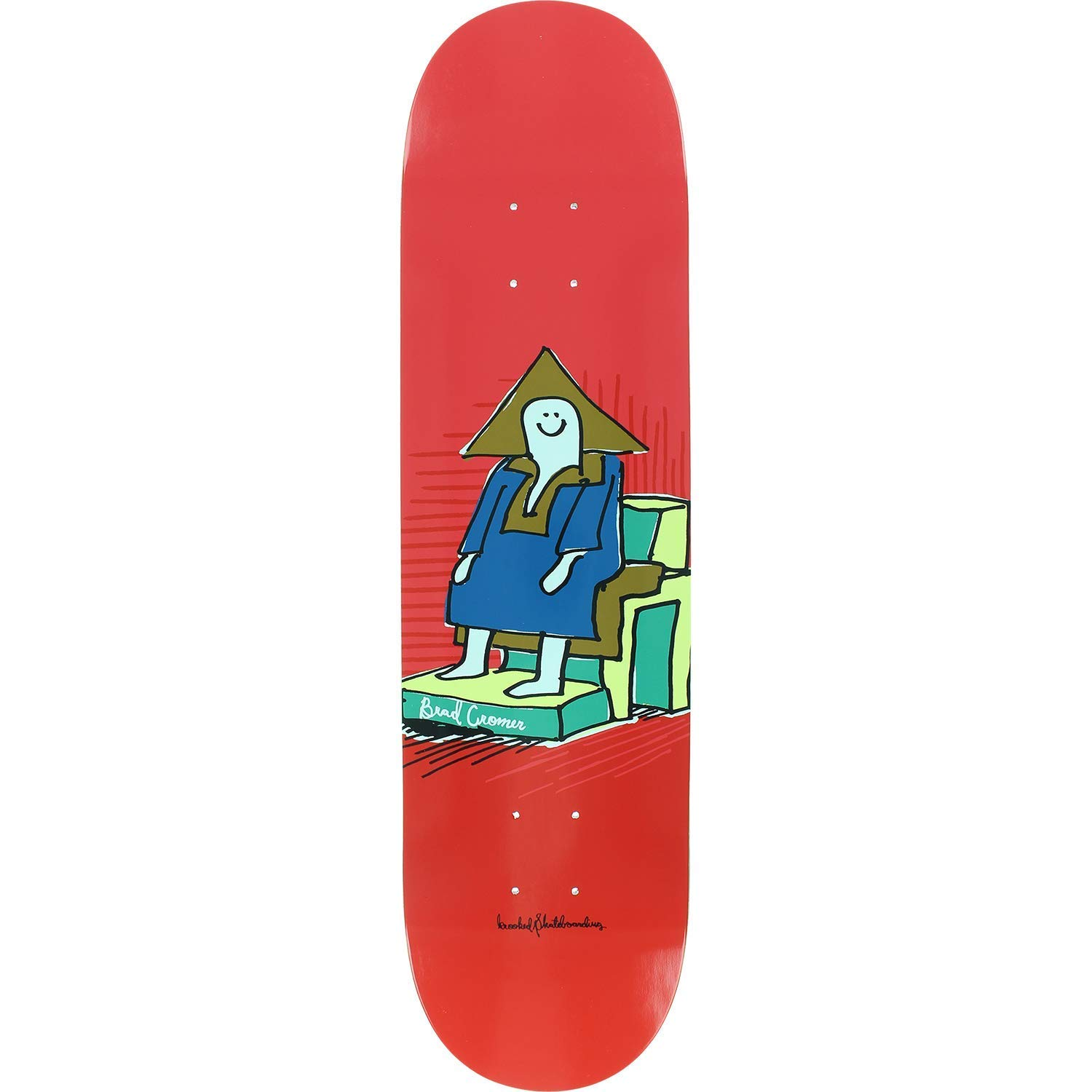 Get Quotations Krooked Brad Cromer Hi Chair Skateboard Deck 8 06 Only Bundled With Free