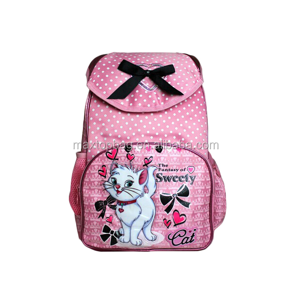 2017 Cute Cat School Bag Pink School Backpack For Girl - Buy ...