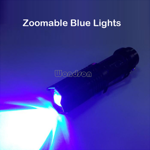 Blue Light Tactical Outdoor Hunting LED Flashlight Torch