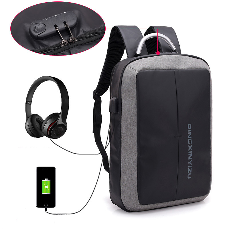 Outdoor business USB charging laptop computer bag travel anti theft <strong>backpack</strong>