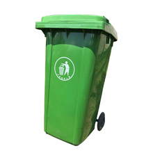 Outdoor <span class=keywords><strong>hdpe</strong></span> kunststoff recycle staub bin 120 liter abfall bin