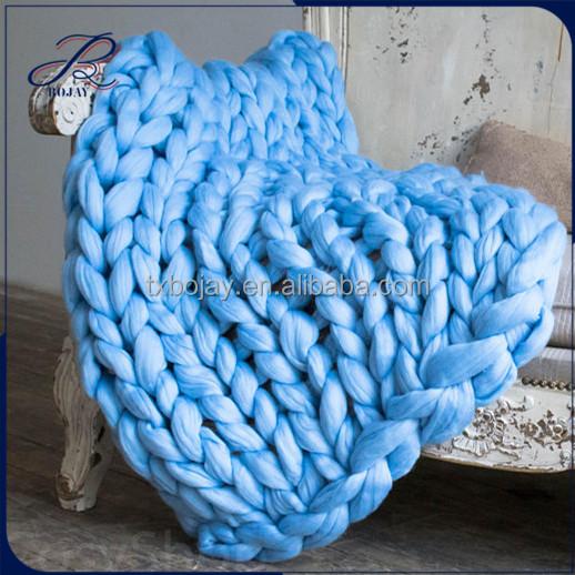 super dicken teppich riesen werfen chunky knit decke 100 120 cm super sperrige merino wolle. Black Bedroom Furniture Sets. Home Design Ideas