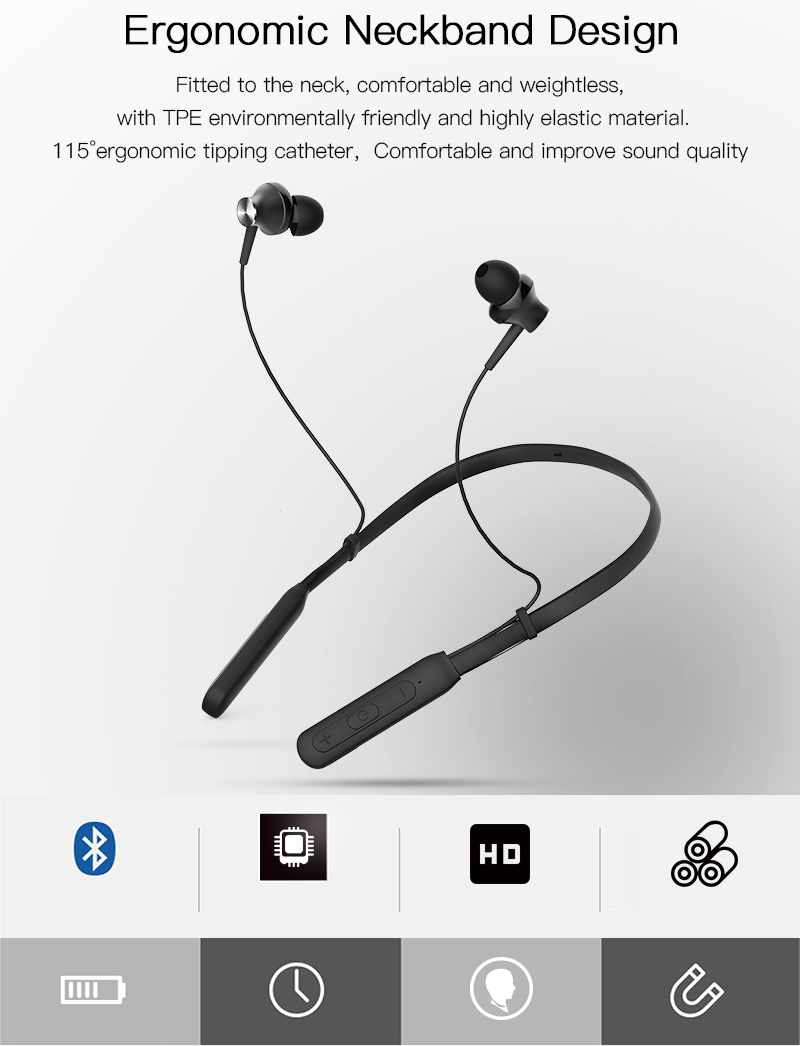 In Ear Handsfree Super Bass Wireless 5.0 Metal sport music Earphone headphone headset for mobile Phone earbuds