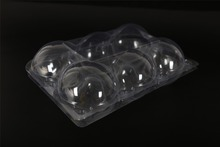 PET material transparent packing disposable plastic egg cupcake cavity tray