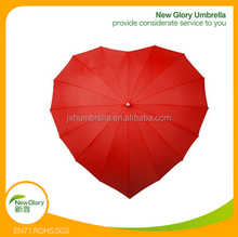 22inches 16K red lover heart shaped umbrella