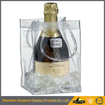 Transpa Ice Chiller Bag For Wine Bottle Cooler Promotion Cooling Gel