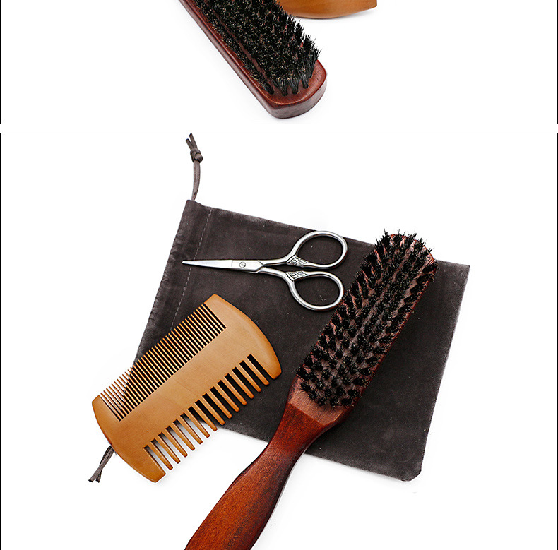 New arrival beard hair dye beard and shave beard brush set