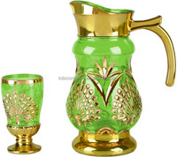 New Hot Sale Glass Gold Drinkware Water Jug Set