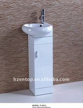 Modern PVC floor mounted bathroom vanity P-2012