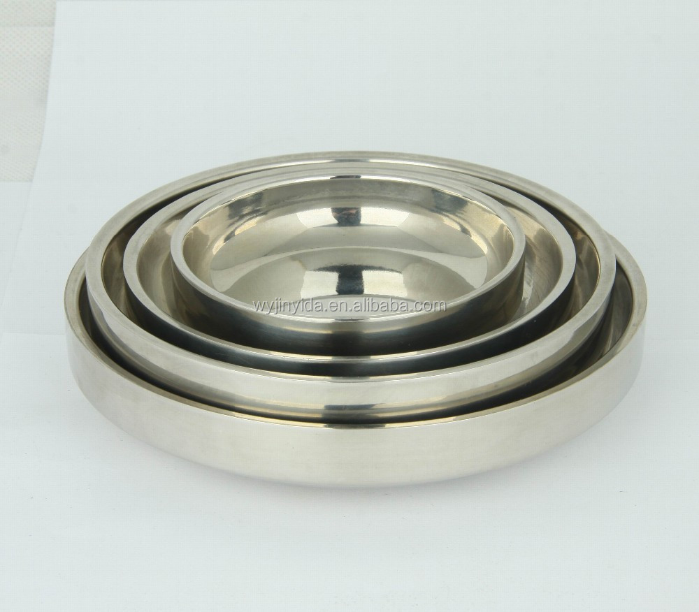 stainless steel korean double wall dishes 90-148cm diameter