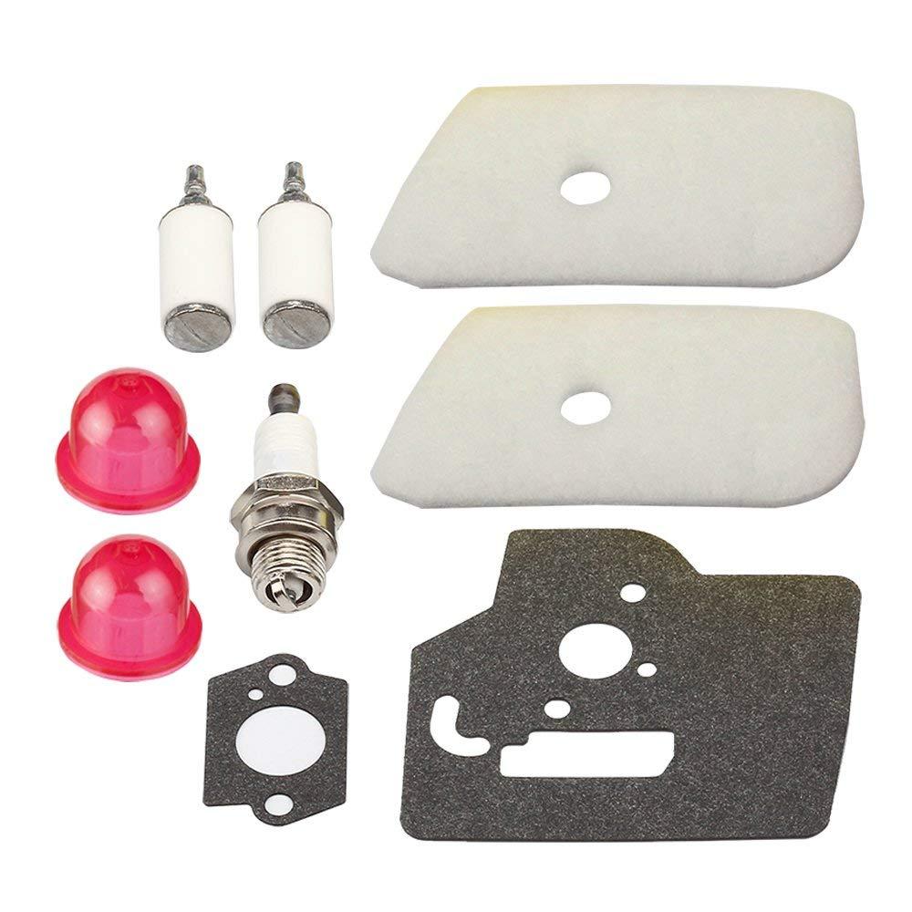 Panari (Pack of 2) Air Filter + fuel Filter Gasket for Jonsered BC2126 BC2128 CC2126 CC2128 GC2126 GC2126C GC2128 GC2128C GT2126 GT2128 RedMax BC280 BT280 String Trimmer / Brush Cutter
