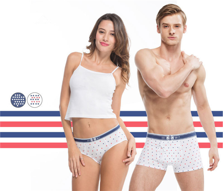 OEM Designs Fresh Bright Colors Printed Couples Matching Underwear for women and man
