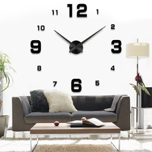 Fashion 3D 2015 new sale wall clock clocks reloj de pared watch 3d diy Acrylic mirror Stickers Quartz Modern Home Decoration