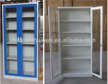 Mobili Moderni Kd Metallo Porta Di Vetro Librerie Armadio Con Ripiani  Regolabili - Buy Librerie Armadio,Porta In Vetro Libreria Armadietto,Kd  Porta Di ...