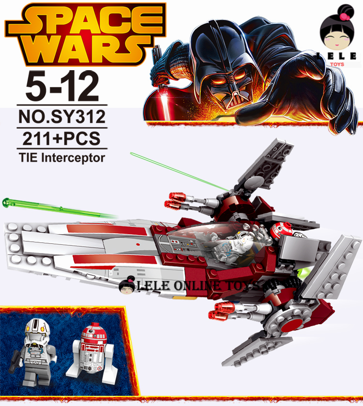 Star Wars V-Wing Blocks Compatible with Lego Star Wars Bricks Educational Toys Model Building Toys for Kids