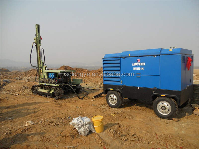 CTQ-D100YA2-2 40m Depth Pneumatic Dth Rock Blasting Drill Rig For Mining And Quarry Drilling