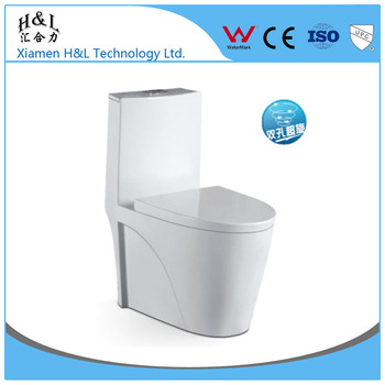 Hot Sale Big Pipe Pp Material Seat Cover Wc Toilet With Strong Water Flush  And No Block - Buy Pp Material Seat Cover Wc Toilet,With Strong Water